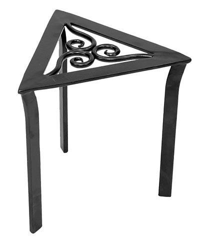 Achla Designs VTT-02 Triangular Trivet Wrought Iron Plant Stand, Graphite (Design Balcony Condo)