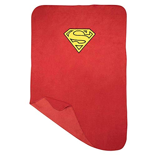 (Superman Shield Logo Cape Fleece Blanket Throw, Super Soft, Warm and Durable | Cartoons & Characters | Machine Washable)