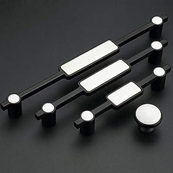 5 Kitchen Cabinet Door Pulls Dresser Knob Pulls Drawer Pull Handles Knobs Antique Black Silver Pewter White Porcelain ARoseRambling 128 mm
