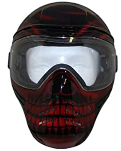 Save Phace Tagged Series Diablo Tactical Mask with Red Skull Graphic, Black