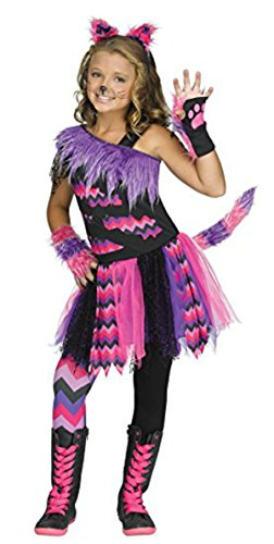 Girls Cheshire Cat Alice in Wonderland Costume (Alice And Wonderland Costumes For Kids)