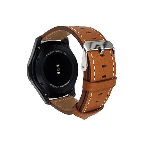 Moto 360 2 nd Gen 46 mm banda de reloj, 22 mm Marrón de repuesto de