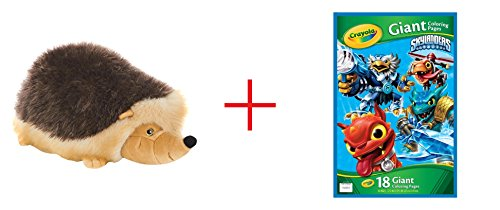 Toys R Us Plush 21 inch Hedgehog - Brown and Skylanders Giant Coloring Page - Bundle