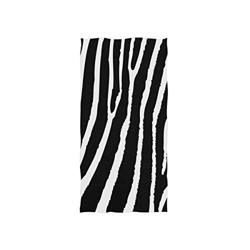 Zebra Skin Pattern Hand Towels for Bathroom, Gym, Beach and Spa