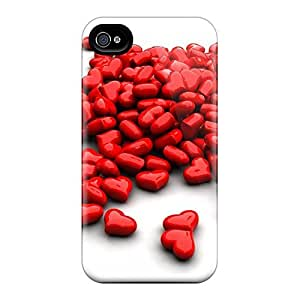 For DebbieBrown Iphone Protective Cases, High Quality For Iphone 6 Love Hot Hearts Skin Cases Covers