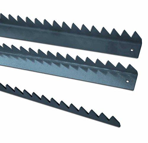 Bordure d/éfensive pli/ée galva et d/écoup/ée au laser h=40mm l=30mm ep=2,5mm L=2M