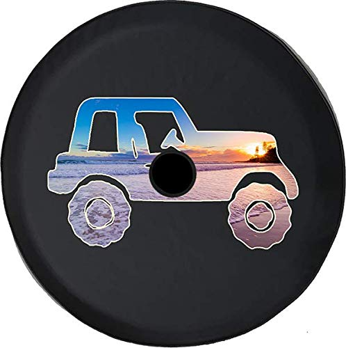 Jeep Tire Cover for Spare Tire Jeep Paw Prints Peace Love Tiedye Black 32 in
