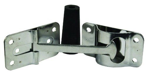 JR Products 10615 Stainless Steel Flat T-Style Door Holder - 4