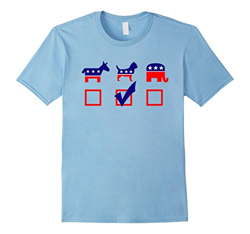Mens Vote Cairn Terrier For President T-shirt Cool Dog Shirt XL Baby Blue