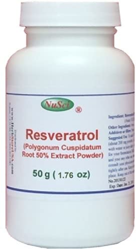 Amazon.com: NuSci Pure Resveratrol Powder Standardized 50% Extracted from  Polygonum Cuspidatum Root (50 Grams (1.76 oz)): Health & Personal Care