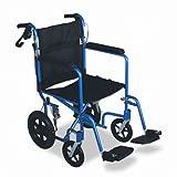 Medline Excel Deluxe Aluminum Transport Wheelchair CHAIR,WHEEL TRANSPORT,BE (Pack of2)
