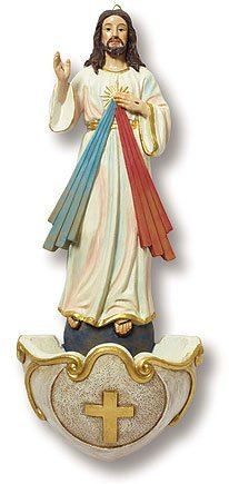 Religious Gifts Catholic Clergy Gift Church Chapel Decoration Jesus Christ Divine Mercy Hanging Holy Water ()