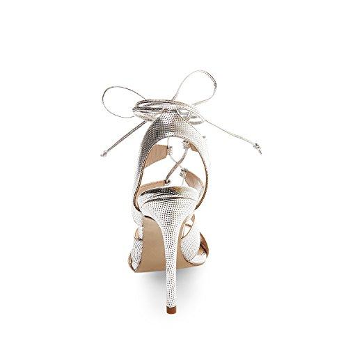 Sandalia con polvo Sandalia rosa Madden cordones Silver nabuk Steve axwBqHYE