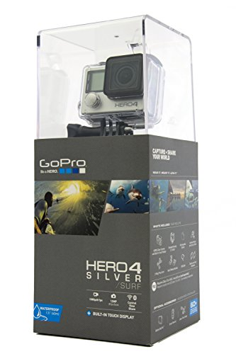 GoPro Hero4 Hero 4 12MP Full HD 4K 15fps 1080p 60fps Built-In Wi-Fi Waterproof Wearable Camera Silver Adventure Edition (32GB)