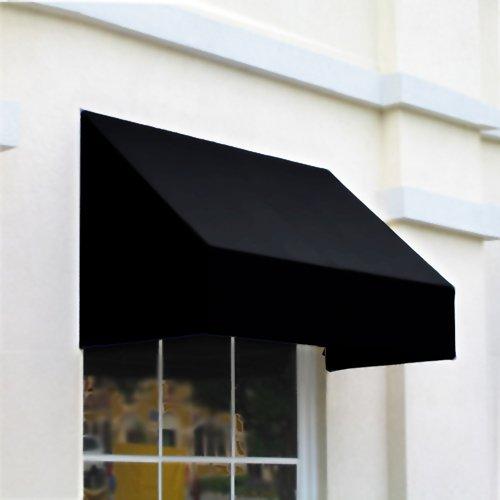 Awntech 6-Feet New Yorker Awning, 31 by 24-Inch, Black
