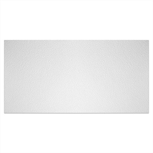 GENESIS - Stucco Pro Ceiling Tile - Drop/Grid Ceiling - Fast and Easy Installation (2' x 4' Tile, White)