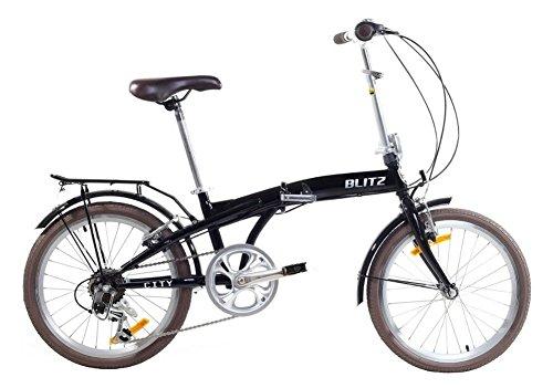 Blitz City Folding Bike - Black
