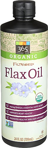 365 Everyday Value, Organic Filtered Flax Oil, 24 fl oz 41l7NAdg0sL