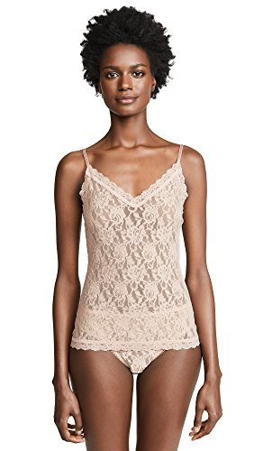 Hanky Panky Signature Lace Tank - Hanky Panky Women's Signature Lace V Front Cami, Chai, Tan, Large