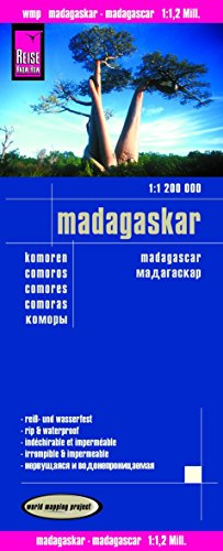 Madagascar and Comoros 2016 - Rip & Waterproof Map by Reise Know-How (English, Spanish, French, German and Russian Edition)