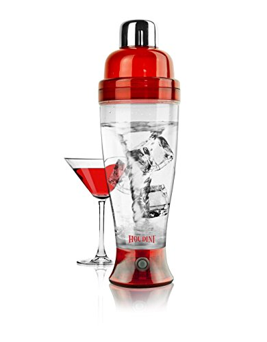 Houdini Electric Cocktail Mixer (Red) (Electric Martini Shaker)