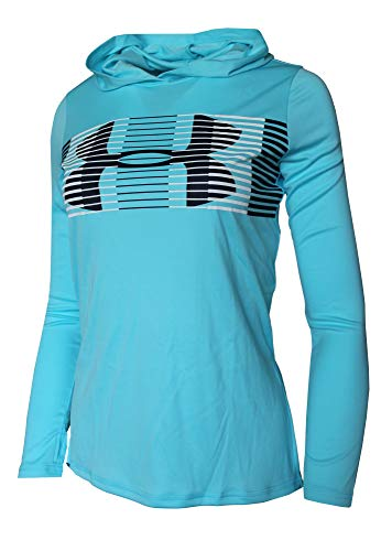 Under Armour Big Girls 6-18 Athletic Light Hooded Shirt (Venetian Blue, XS 6/7)