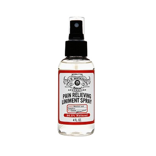 J.R. Watkins Natural Pain Relieving Liniment Spray, 4 Fluid Ounce