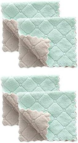 4Pcs Nonstick Oil Coral Velvet Hanging Hand Towels Kitchen D