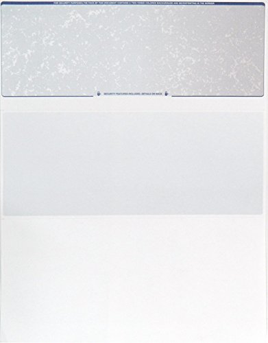 Blank Check Paper Stock-Check On Top-Prismatic BlueRedBlue-Count//10