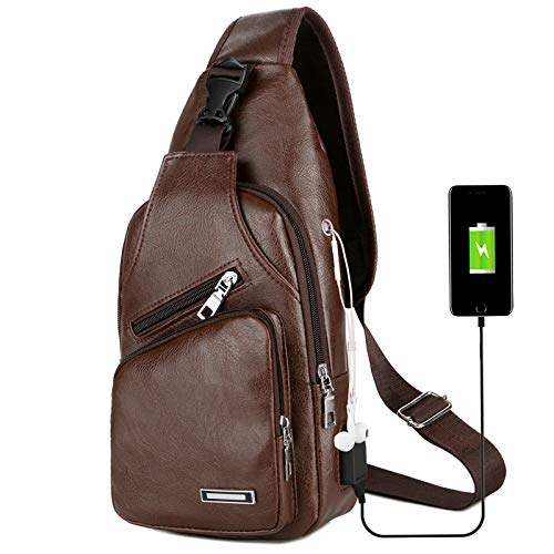 Price comparison product image 2019 SCHNABEL LUXURY CROSSBODY BAG WITH USB - LIMITED EDITION (Coffee)