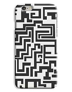 Black and White Tetris iPhone 6 Plus Hard Case Cover