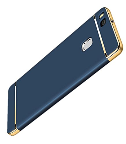(Neivi Huawei P9 Lite Case, 3 In1 Ultra Slim Full Protective Hard Anti-Scratch Shockproof Electroplate Frame with Metal Texture Armor PC Hard Back Case Cover & Skin for Huawei P9)