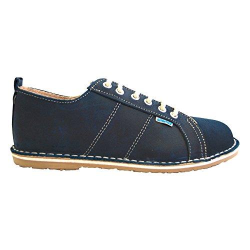 Sneaker Ante con Cordones Azul de Petrol Zapatos Piel Mujer Pq6wnS