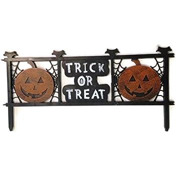 Trick or Treat Halloween Fence Yard Decor