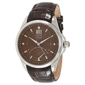 Starking Men's Brown Dial Leather Band Watch - BM0855SL99