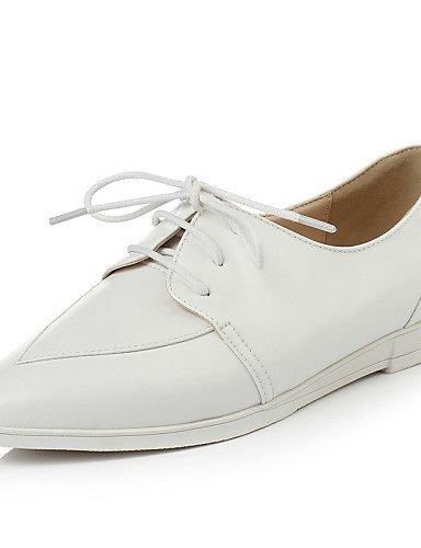 5 Cn37 Oxfords Mary Eu37 7 Mujer Semicuero Y White Zapatos Casual Silver Bajo us8 Cn39 Tacón Uk4 Vestido De Blanco us6 Njx Jane Plata Oficina 5 Trabajo Eu39 Uk6 5 40gwCqwX
