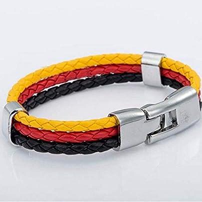 ZUOZUO Leather Wristband 3-Layer Woven Leather Soccer Bracelet Charm Punk Rock Men S Wristband Jewelry Estimated Price £17.99 -