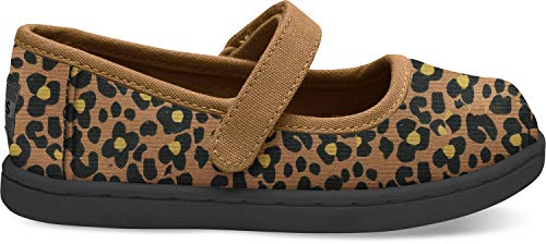 (TOMS Kids Baby Girl's Mary Jane (Infant/Toddler/Little Kid) Toffee Cheepard Print 6 M US)