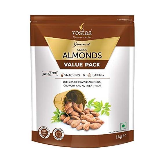 Rostaa Premium Classic Almonds Value Pack, 1000 g
