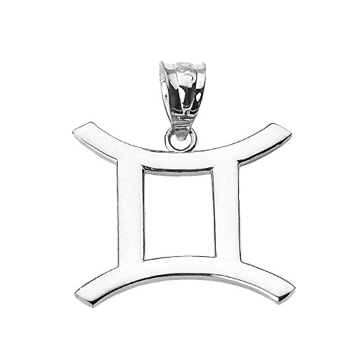 Astrology Jewelry Personalized Sterling Silver Gemini Zodiac Pendant