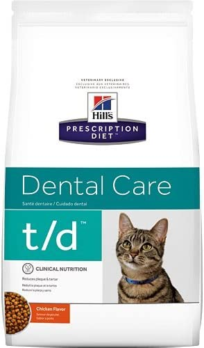 Hill's Prescription Diet t d Dental Care Chicken Flavor Dry Cat Food 4 lb