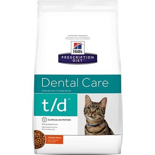 Hill's Prescription Diet t/d Dental Care Chicken Flavor Dry Cat Food 4 lb