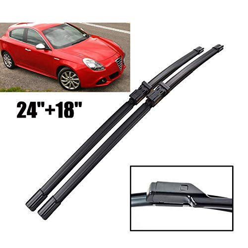 FidgetKute Windshield Wiper Blades Front Window Fit for Alfa Romeo Giulietta 10 Onwards