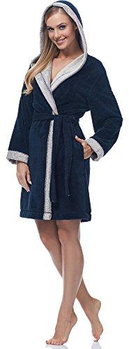 Merry Style Albornoz para Mujer MSLL1002 Navy/Blanco