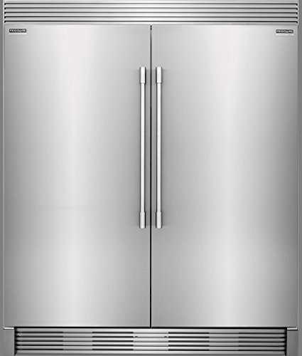 (Frigidaire PROFESSIONAL Stainless Steel Refrigerator Freezer Combo & Trim FPRU19F8RF FPFU19F8RF TRIMKITEZ2)