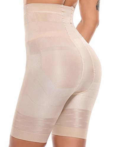 Line Girdle (SLIMBELLE Women's High Waist Cincher Trainer Girdle Tummy Control Panties Belly Slimmer Butt Lifter Shapewear-Beige-3XL)