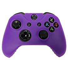 HDE Xbox One Controller Skin Protective Silicone Gel Rubber Grip Cover for Wireless Gaming Controllers (Purple)