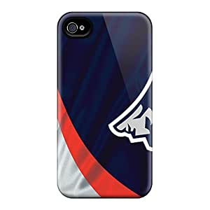 Iphone 4/4s JjR9760TMBh Customized Trendy New England Patriots Image Shockproof Hard Cell-phone Case -AlainTanielian