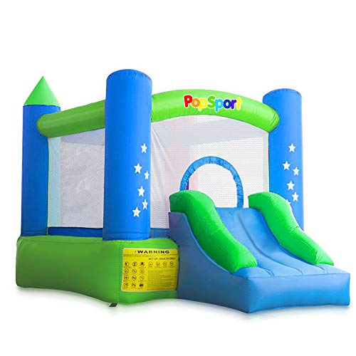 Happybuy Inflatable Castle Bounce Outdoor Bounce Castle with Slider Blower Indoor Inflatable Bounce for Kids ()