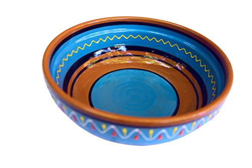 Terracotta Blue, Deep Dish - Hand Painted From Spain by Cactus Canyon Ceramics